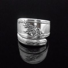 Floral Spoon Ring  Queen Bess II  Vintage by MarchelloArt on Etsy, $19.99