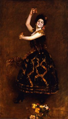"William Merritt Chase Carmencita, 1890. Metropolitan Museum of Art, New York. – Carmencita, the dancer known as ""The Pearl of Seville"""