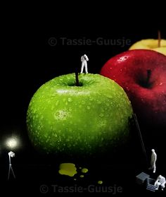 Can't eat fruits so i will make pictures of it, works just fine.... ©tassie-guusje #figurines #littlepeople #smallworld