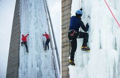 Old 8-storey tall grain silos re-adapted for ice climbing : TreeHugger