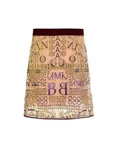 Alphabet-embellished tulle skirt   Mary Katrantzou   MATCHESFASHION.COM US