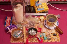 Lainie Love Dalby Artwork - Artists' Personal Performance Altar - sacred memorabilia from 'The Diamond Den NY' Altar Cloth, Altars, Den, Crystals, Artwork, Artists, Diamond, Spaces, Create