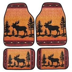 Woodland Décor for a Log Cabin Theme   Collections Etc. Large Mats, Small Mats, Wildlife Decor, Collections Etc, Woodland Decor, Hanging Dryer, Back Seat, How To Clean Carpet, Rustic Design