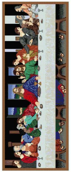 The Last Supper Full Tapestry Pattern at Sova-Enterprises.com