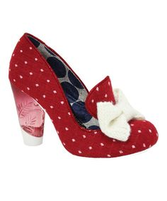 Freakin LOVE!! Take a look at this Red Bowtiful Pump by Irregular Choice on #zulily today!