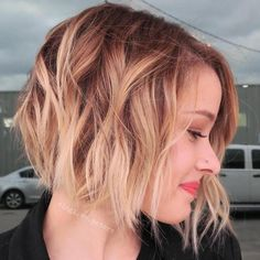 I really like the shape of this one.  Can't decide if I want it to be this blonde...maybe just some blonder highlights.