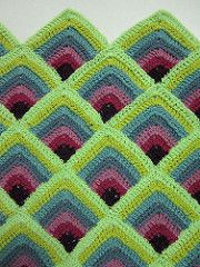 Double crochet mitred squares pattern by pandatomic