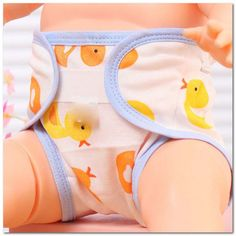 2pcs Cotton Breathable Diapers 0-2years Baby Cartoon Animal Diapers Leak-proof Single Layer Diapers  gift