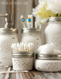 Bathroom Storage Ideas with Mason Jars