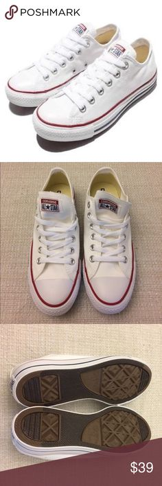 Converse All Star Women shoes size 7 Start your day in style. Brand new. Original converse all Star. White color. Size men 5 / Women 7. Canvas material . Without box. Converse Shoes Sneakers