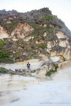 Kapurpurawan Rock Formation in Burgos, Ilocos Norte