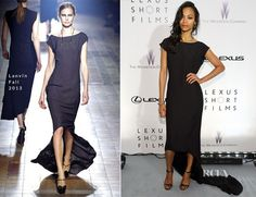 Zoe Saldana In Lanvin - Collection: Fall 2013 - The Weinstein Company Party