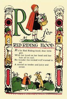 Red Riding Hood kids story poem (spell)