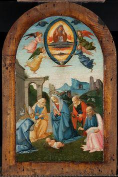 The Madonna and Four Saints Adoring the Infant Jesus / La Virgen y cuatro santos adorando al Niño Jesús // c. 1495 // Bartolomeo di Giovanni // Detroit Institute of Arts