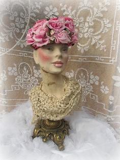 Vintage mannequin head :delusions of grandeur: Flea Market Finds pour La Semaine Quarante-Neuf
