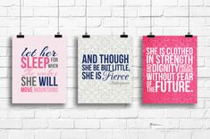 let her sleep for when she wakes she will by RainbowsLollipopsArt, $18.00