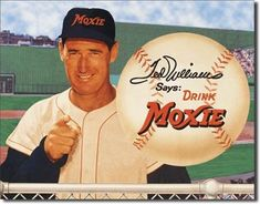 Boston Red Sox Ted Williams Says Drink Moxie X Metal Advertisement Sign for sale online Advertisement Images, Vintage Advertisements, Vintage Ads, Moxie Soda, Baseball Players, Baseball Cards, Baseball Signs, Sports Advertising, Sports Signs