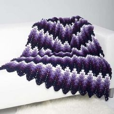 Perfectly Purple Ripple Throw