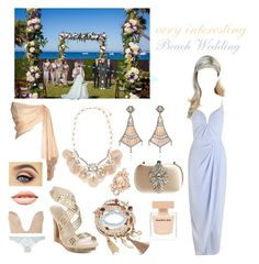 """""""Beach Wedding (just a hint )movie history..♥"""" by cherizard ❤ liked on Polyvore featuring Sydney Evan, Dsquared2, ASOS, Givenchy, Maggie Sottero, BCBGMAXAZRIA, Annoushka, Zimmermann, Accessorize and Narciso Rodriguez"""