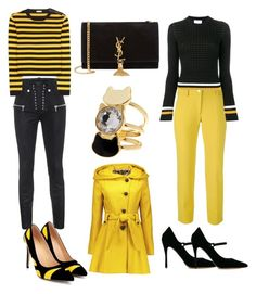 """🌼Yellow and black🌼"" by jojoberryperry ❤ liked on Polyvore featuring Versace, 3.1 Phillip Lim, Unravel, Yves Saint Laurent, Miu Miu, Steve Madden and Tabitha Simmons"