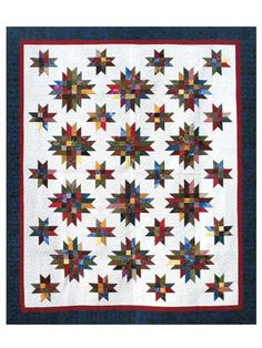 """No matter what color family you focus on, our Galaxy Quilt Pattern is a wonderful lap quilt for using up fabric scraps!   For even more quilting fun, swap strips with your friends or quilt group. Finished size of lap quilt is 48"""" x 66"""", queen is 81"""" x 99"""" and king is 99"""" x 111""""."""