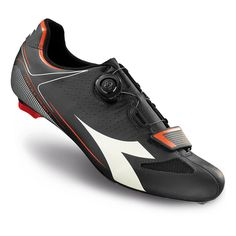 Diadora Vortex Racer II Shoes Mens BlackWhiteRed Fluo 410 * You can find out more details at the link of the image. (This is an affiliate link) Racing Shoes, Bike Shoes, Sock Shoes, Cycling Gear, Road Cycling, Bike Wear, Black And White Man, Road Bike, Designer Shoes