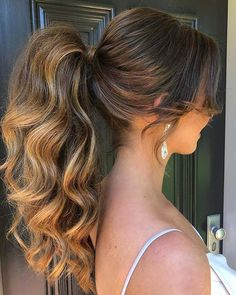 wedding hairstyles ponytail Sexy Bridesmaid Styling Swipe To See The Look Dodiejayhair - formal hairstyles ponytail formal hairstyles with extensions Prom Ponytail Hairstyles, Lob Hairstyle, Formal Hairstyles, Bride Hairstyles, Weave Hairstyles, Formal Ponytail, Elegant Ponytail, Vintage Ponytail, Natural Hair Styles