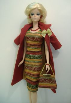 Handmade Coat and Dress for the original Silkstone Barbie body (non-articulated) |  | eBay!