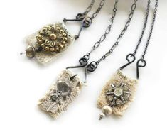 wire and lace - geneva necklaces
