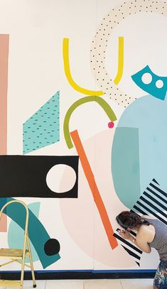 Murals — Ashley Mary Mural Wall Art, Mural Painting, School Murals, Hallway Designs, Home And Deco, Home Art, New Art, Street Art, Kids Room