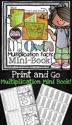 This handy little multiplication facts booklet is a great way for students to have all the multiplication facts (1-12) in one place! It's great for fun partner quizzes, early finisher's practice, and at-home review.