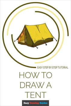 Tent Drawing, House Drawing, Guy Drawing, Drawing Tips, Fall Drawings, Doodle Drawings, Drawing Tutorials For Kids, Popular Cartoons, Object Drawing
