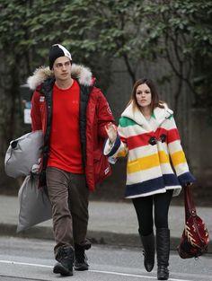 Rachel Bilson and Hayden Christensen - feeling the Canadian love :)