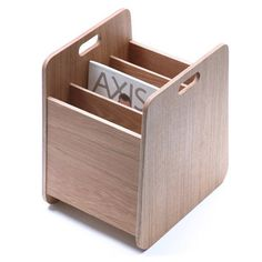 Ivey by Hugo Passos for Jasper Morrison. Crates of old vinyl records inspired this magazine holder.