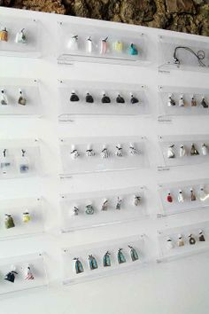 Garbage Pin Project Exhibition -   quite like the idea of framing a series or sequence of product like this.