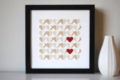 unique, one of a kind 3D heart art - perfect Mother's Day gift