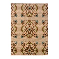 Woven rug with a scrolling medallion motif.    Product: Rug Construction Material: 100% Polypropylene ...