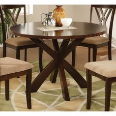 """Ruby Round Table in Rich Espresso - Coaster - This is my dining table option if I can do 48"""" diameter... we'll see!"""