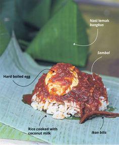 Nasi Lemak bungkus in KL, PJ and Subang Jaya. Check out at Peranakan Food, Subang Jaya, Nasi Lemak, Malaysian Food, Brown Paper, Frittata, Ravioli, Picky Eaters, Gnocchi