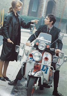 Jimmy's Lambretta scooter from Quadrophenia up for auction A piece of movie history is going through Bonham's auction room later this month - the scooter rode by Jimmy Cooper in the cult mod flick Quadrophenia, Mod Scooter, Lambretta Scooter, Scooter Girl, Df Mexico, Mod Girl, Teddy Boys, Motor Scooters, Mod Fashion, Sporty Fashion
