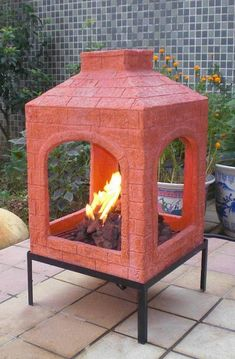 Nice Mediterranean style clay fire pit