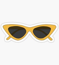 YELLOW CAT EYES SUNGLASSES Sticker hslim is an independent artist creating amazing designs for great products such as t-shirts, stickers, posters, and phone cases. Cute Laptop Stickers, Phone Stickers, Cool Stickers, Preppy Stickers, Tumbler Stickers, Meme Stickers, Vsco, Frühling Wallpaper, Homemade Stickers