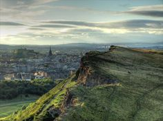 Edinburgh from Arthurs Seat.   One of the best views ever and it also looks onto the North Sea