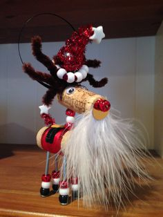Wine+Cork+Ornament+Santa+by+Korkles+on+Etsy,+$10.00 More