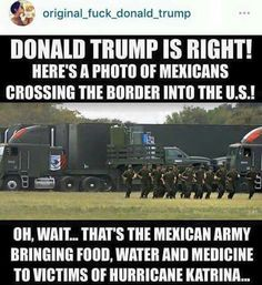 Donald Trump, Mexico, Hurricane Katrina