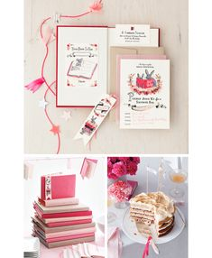 book themed baby shower ~ but I love the idea for a bridal shower/wedding. Book favours rock!