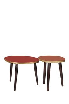 Midtown Red Coffee Tables - Set of 2