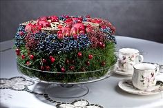 Flower cake composition from Elena Dmitrieva | Wall | VK