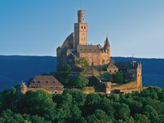 Marksburg Castle on the Rhine River.One of the castles that have been restored and we toured from our Viking River Cruise.