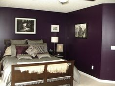 "A purple bedroom might actually work!  Lower sheen, ""bluer"" color and only one accent wall."